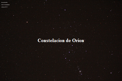 Orion Constellation S